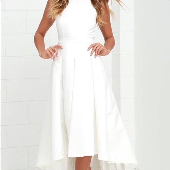 47a5f6ff7ee Ivory high-low dress   Size Medium